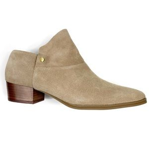 NWOT Aerosoles Diane Ankle Bootie Taupe Suede 8.5